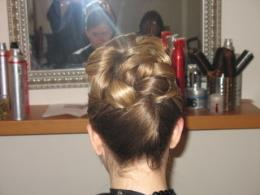 Soft Classic Updo style by Theodora Chicagos Wedding Hairstylist